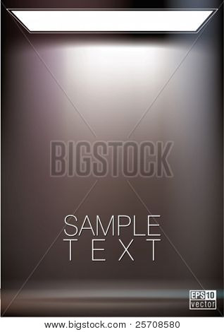 Background with lighting softbox. Empty space for your text or object, eps10 vector