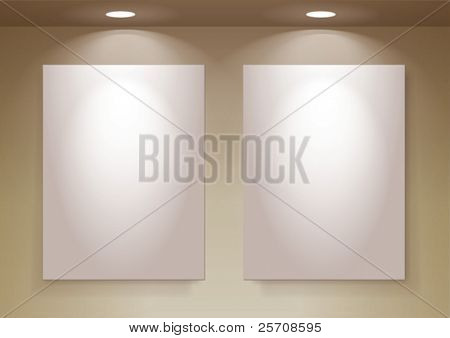 empty frames on wall, eps10 vector, you can change colors for the background