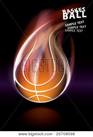 basketball poster, eps10 vector