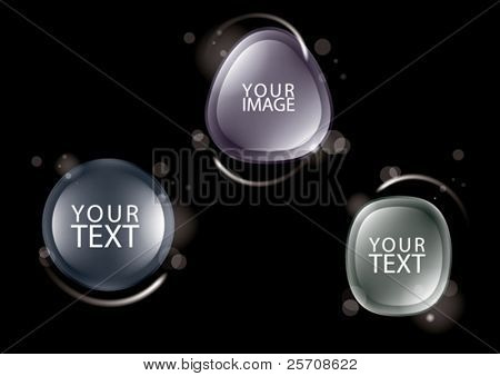 design elements for text, eps10 vector