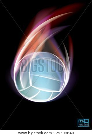 Volleyball symbol, eps10 vector