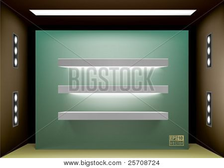 Shelf lightning for interior design, eps10 vector