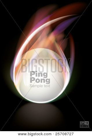 Flying ping-pong ball, eps10 vector