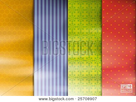 Color samples of a fabric or wallpaper, vector