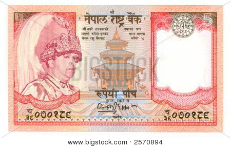 5 Rupee Bill Of India
