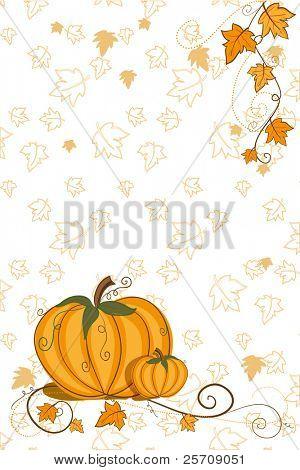 Thanksgiving greeting card - pumpkin