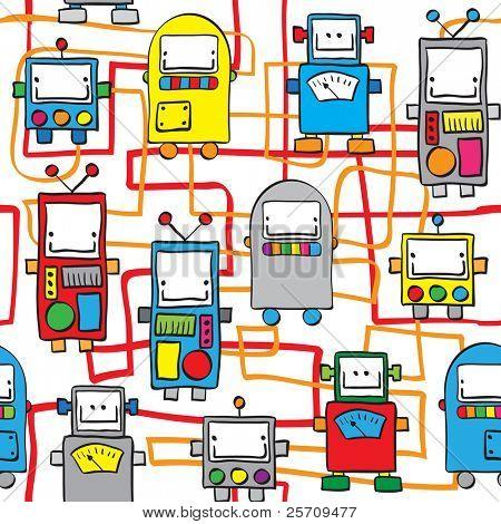 Seamless pattern - Robots