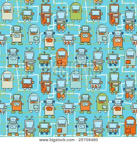 Patrón sin costuras - Robots