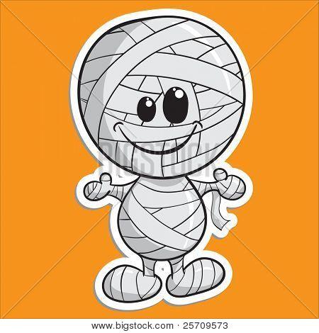 Cute Halloween Charakter - Mumie