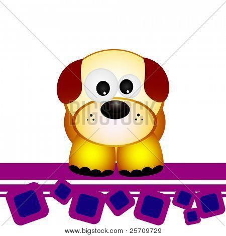 perro de dibujos animados vector illustration