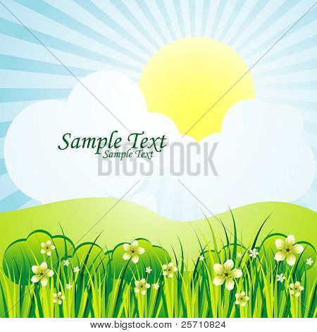 summer background, green planet