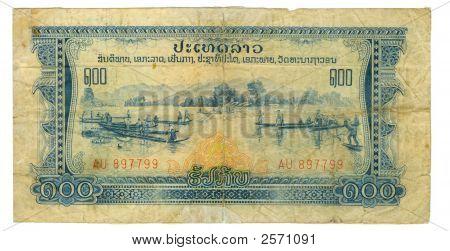 100 Kip Bill Of Laos