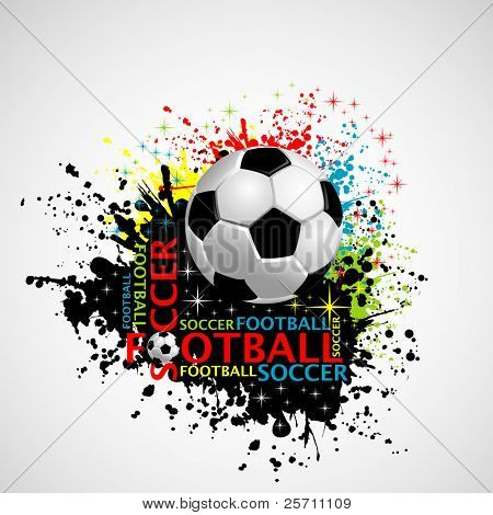 Football poster place for your text