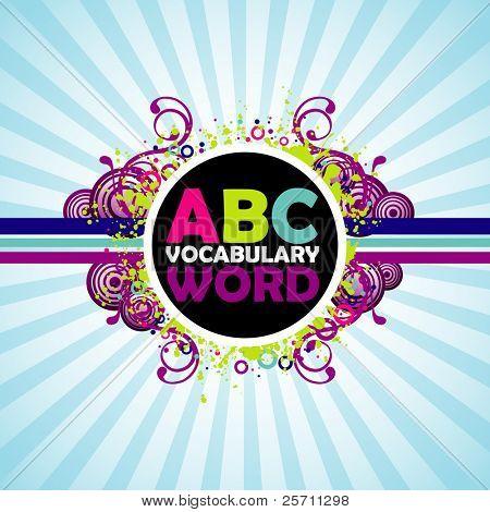 Fondo colorido de ABC.