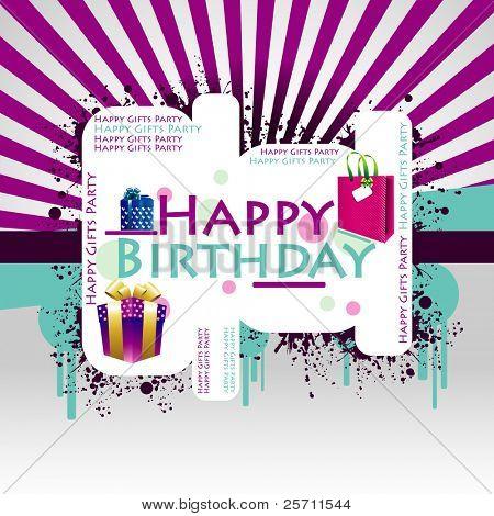Colores de fondo feliz cumpleaños. Ilustración de Vector