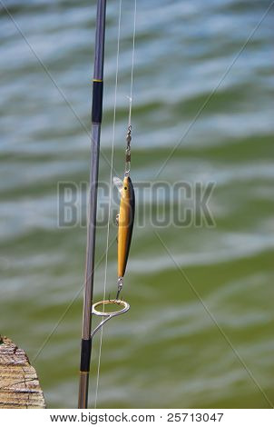 Fishing Lure on Rod