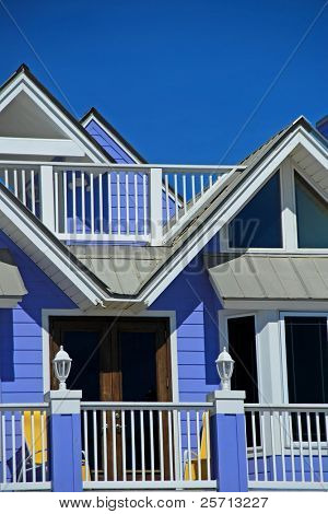 Bright Blue Beachside Home