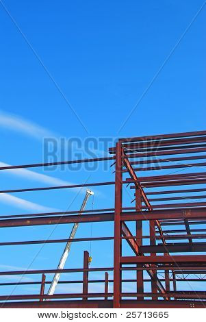 Construction Girders and Crane
