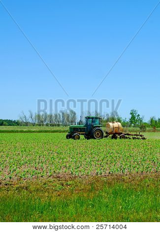 Farm Plowing Spring Field