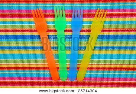 Colorful Picnic Tableware