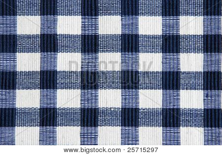 Blue Checkered Picnic Cloth