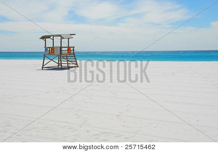 Deserted Lifeguard Shack