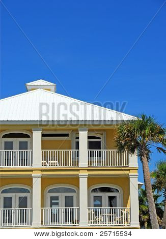 Elegant Balconies of Coastal Home