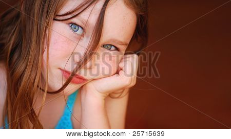 Young Girl Looking Bored or Disappointed