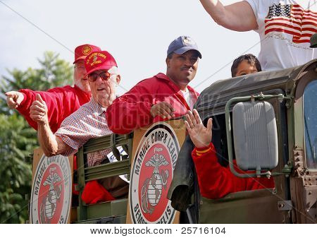 Marine Corps Veterans in Parade