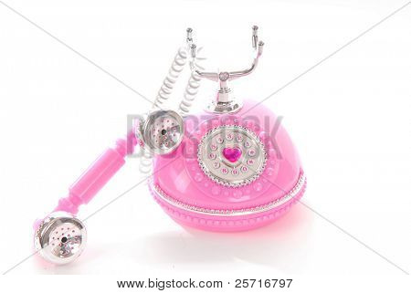 Princess Phone with Receiver Dangling