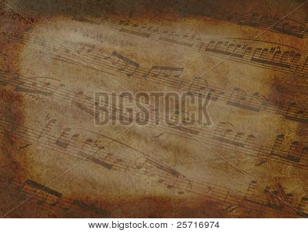 Background Template with Musical Notes