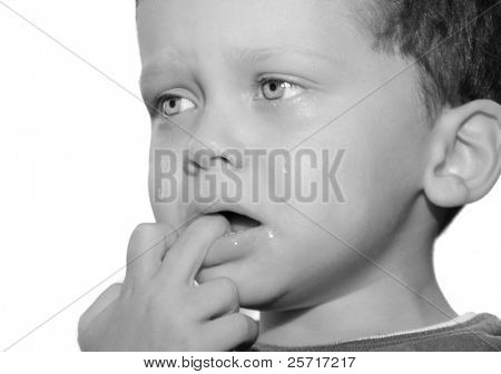 Upset Toddler with Tears