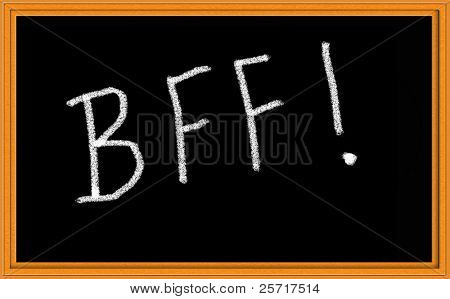 BFF Written on Chalkboard