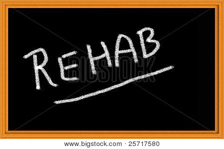 Rehabilitación en pizarra