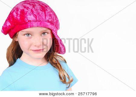 Cute Girl in Pink Hat