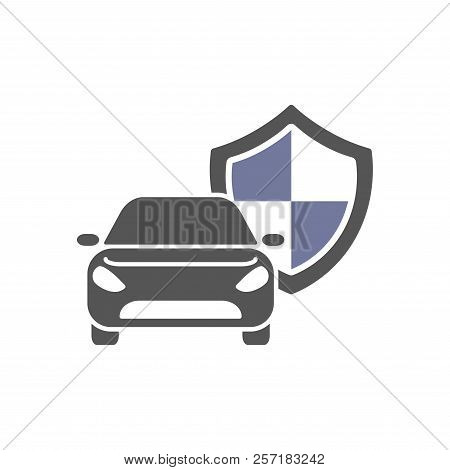 poster of Protect Car Guard Shield. Safety Badge Vehicle Icon. Privacy Automobile Banner Shield. Security Auto
