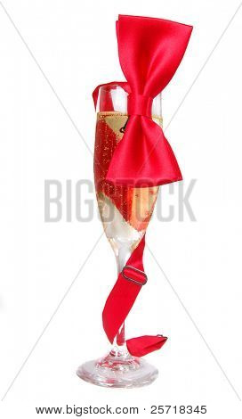 Corbatín rojo Varonil envuelve bastante champagne cristal