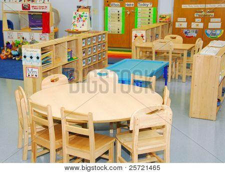 Estações de sala de aula e atividade de pré-escolar