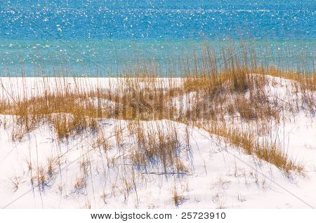Beautiful sand dune and ocean