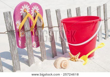 summertime supplies on the beach