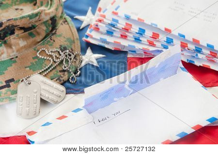Love letters to deployed soldier