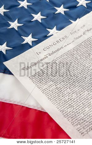 Declaration of Independence on flag