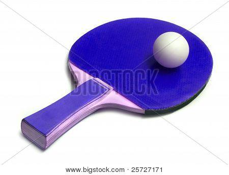 ping-pong ball on  racket
