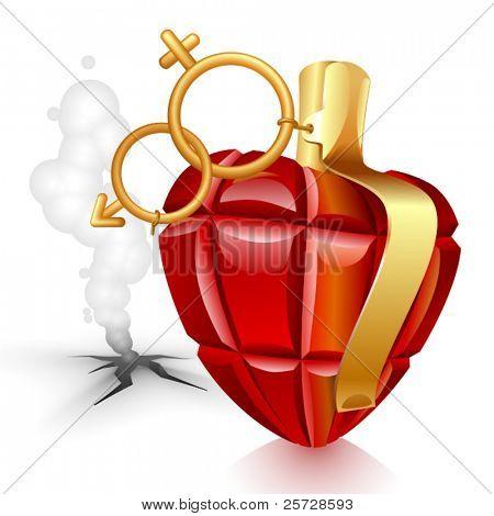 Grenade heart. Male lost