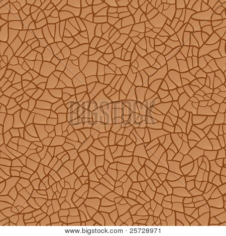 Vector seamless cracked texture