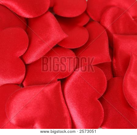 Satin Hearts Background