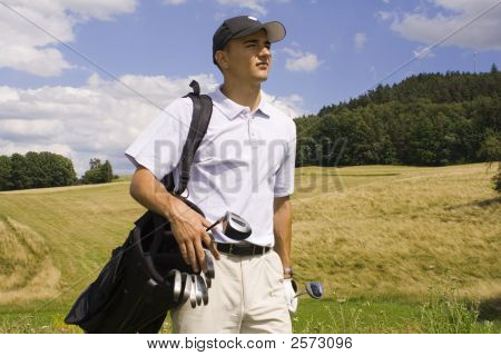 Walking Golf Player