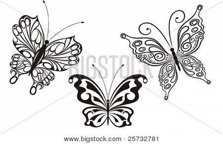 Set of decorative butterflies