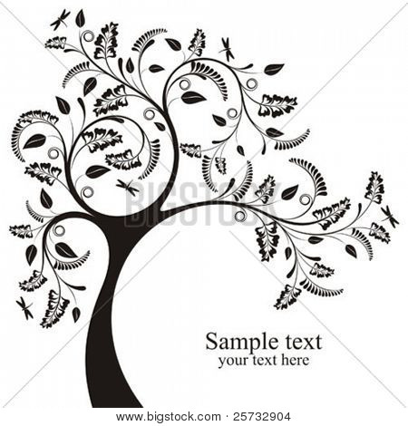 Decorative vector tree