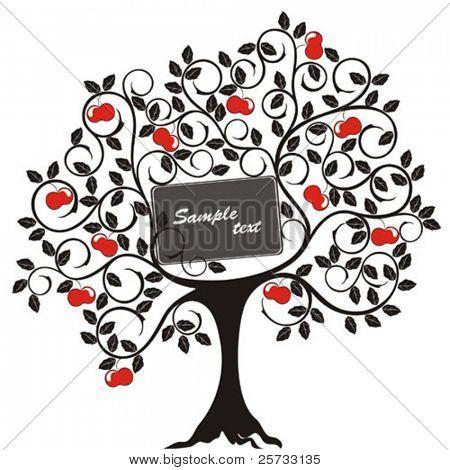 Decorative tree with apples